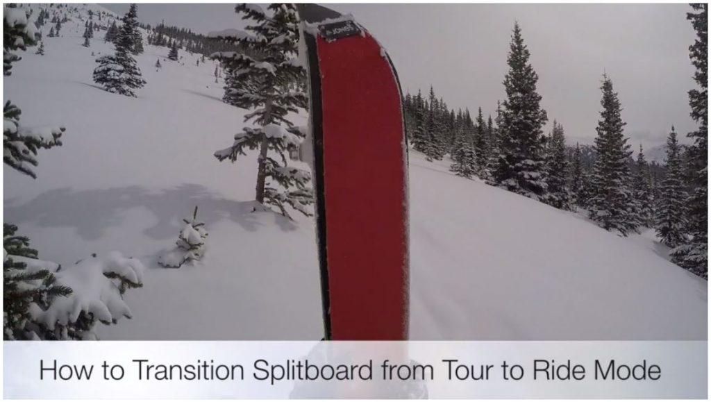 Splitboard Transition tour ride